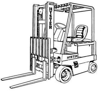 Hyster J40XL, J50XL, J60XL Electric Forklift Truck B168 Series Workshop Service Manual (USA)