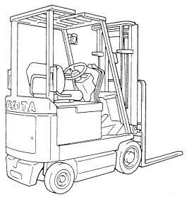 Toyota 5FBC18, 5FBC20, 5FBC25, 5FBCH20, 5FBCH25 Electric Forklift Truck Parts Manual (G236-1)