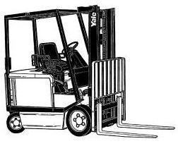 Yale ERC16AAF, ERP16AAF, ERC20AAF, ERP20AAF Electric Forklift Truck A814 Serie Parts Manual (Europe)