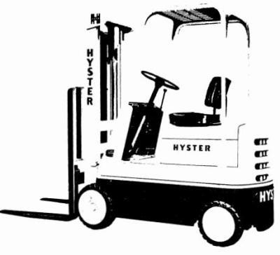 Hyster S30B, S30C, S40B, S40C, S50B, S50C Diesel/LPG Forklift Truck C002 Ser.Service Manual (Europe)