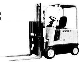 Hyster E30B, E40B, E50B, E60BS Electric Forklift Truck B108 Series Spare Parts Manual