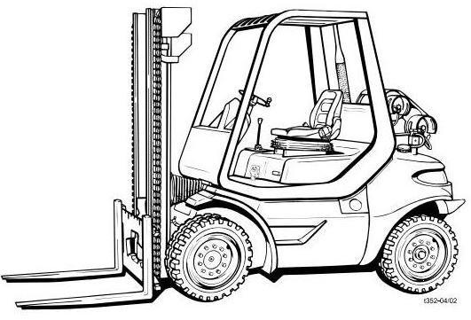 Linde H30TG, H35T, H35TG, H40T, H45T, H45T/600 LPG For