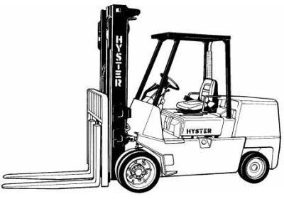 Mitsubishi Diesel Forklift Truck FD40K, FD45K, FD45KL