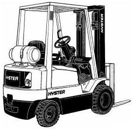 Hyster S1.50XM, S1.75XM, S2.00XMS Diesel/LPG Forklift Truck C010 Series Service Manual (Europe)