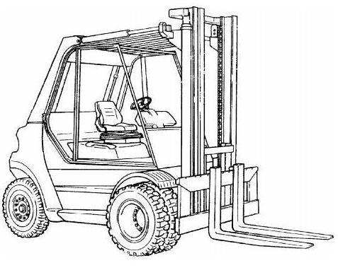 Linde H50, H60, H70, H80 Diesel/LPG Forklift Truck 353,353-02, 353-03 series Service Training Manual