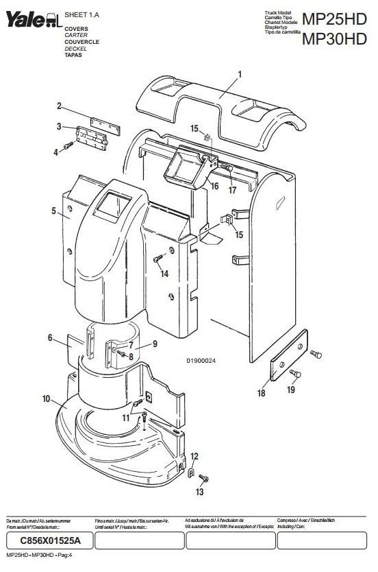 Yale Pallet Jack Wiring Diagram / Yale Pallet Truck Mcw020