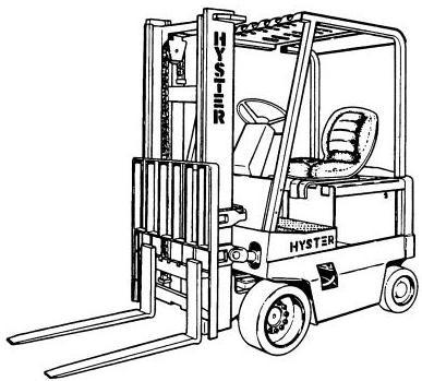 Hyster E40XL, E50XL, E55XL, E60XL Electric Forklift Truck C108 Series Spare Parts Manual (USA)