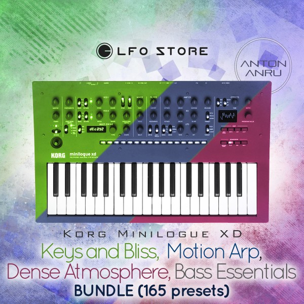Korg Minilogue XD Bundle: Arps, Keys, Basses, Atmospheres (165 Presets)