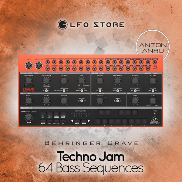 Behringer Crave - Techno Jam (64 Bass Sequences by Anton Anru)