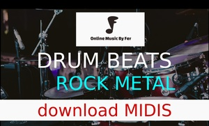 ROCK METAL BEAT DRUMLINE IN MAGIX MUSIC SOFTWARE _ FREE MIDIS AUDIO