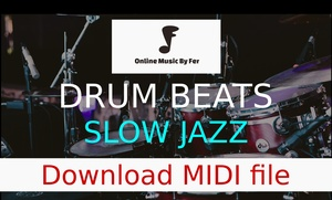 MIDI FILE - Slow jazz drum beat