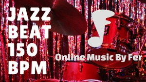Jazz drum line - beat at 150bpm midi file loop