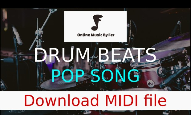 DRUM BEAT - Midi file to use for pop music - Create your own