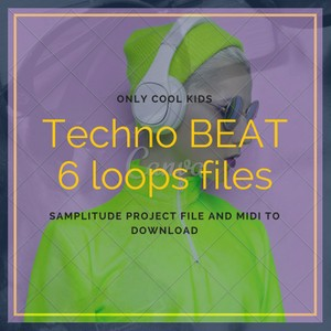 Techno Beats - 6 loops and midi file to play eletronic music