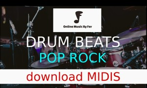 Midi audio file - pop song drumline