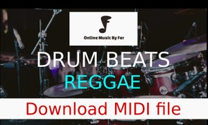 Reggae drum and percussion beat midi file to download