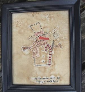 #395 Old Snowman e pattern