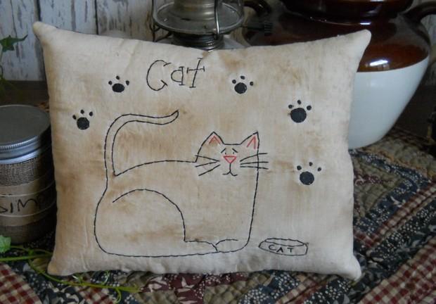 #406 cat stitchery e pattern