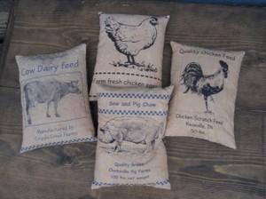 Farm Feedsack Panelse E Pattern