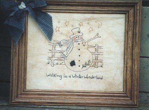 #121 Walking in a Winter Wonderland E Pattern