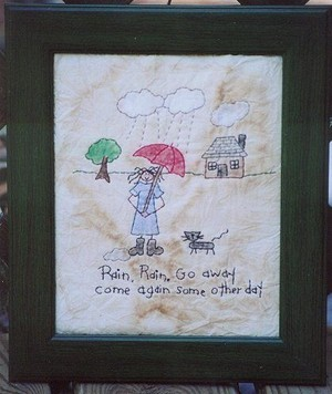 #335 Rain Rain Go Away E Pattern