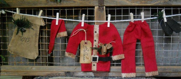 #207 Santas Clothesline E Pattern