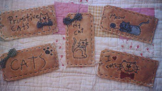 #04 Cat Stitchery Tags E Pattern