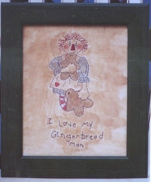 #364 I Love My Gingerbread Man e pattern