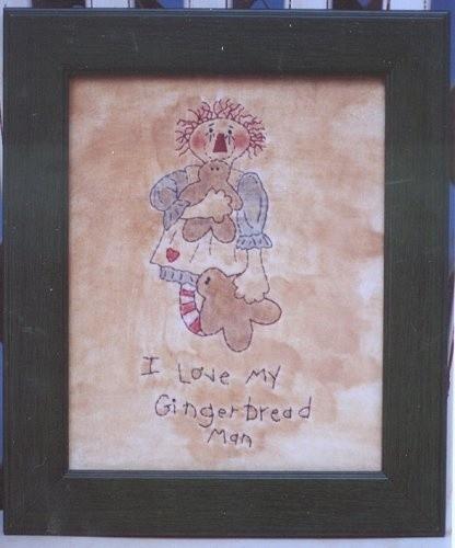 #364 I Love My Gingerbread Man e pattern