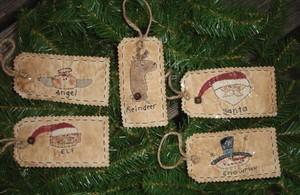 #14 Christmas Folk Tag E Pattern