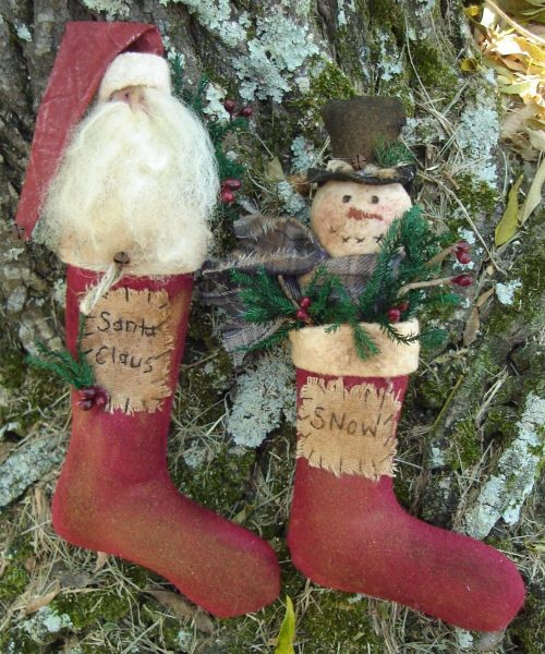 #201 Prim Christmas Ornaments E Patterns