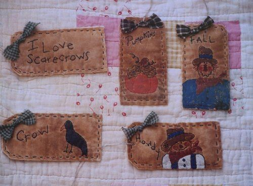 #05 Fall Stitchery Tags E Pattern