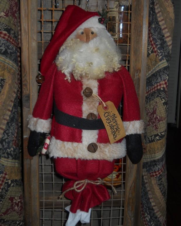 #214 Santa Kleenex Cover Up E Pattern