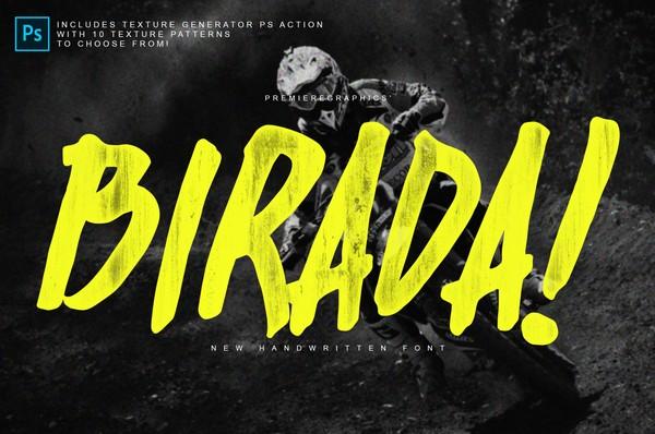 Birada! Font + PS Action
