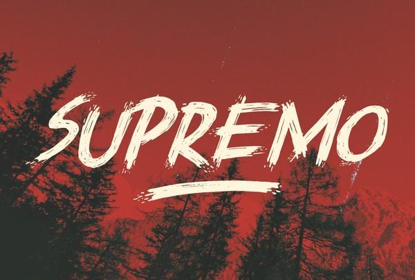 Supremo | Horror Font