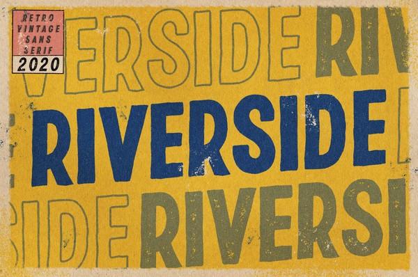 RIVERSIDE | Retro Vintage Sans Serif