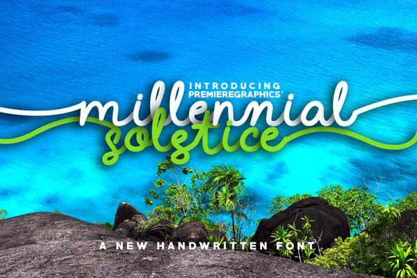 Millennial Solstice Font