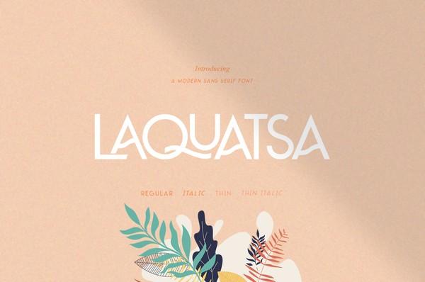 Laquatsa | Modern Sans Serif Font