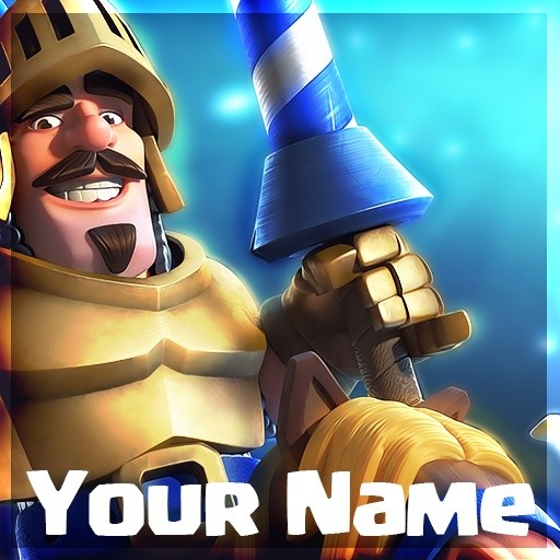 clash royale youtube profile template free