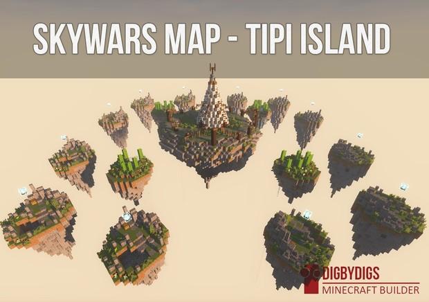 Skywars Map - Tipi Island