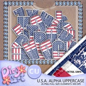 USA Alpha Uppercase