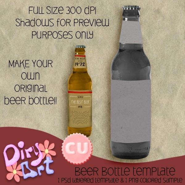Beer Bottle template