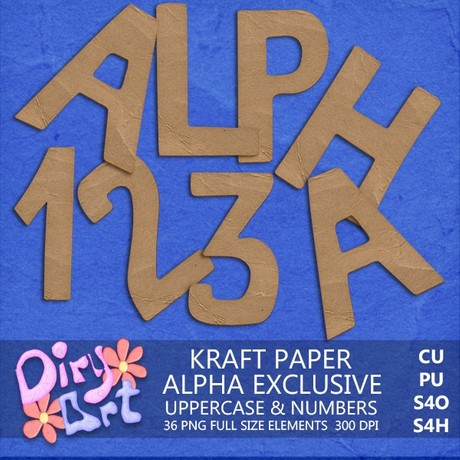 Kraft paper Alpha & Numbers