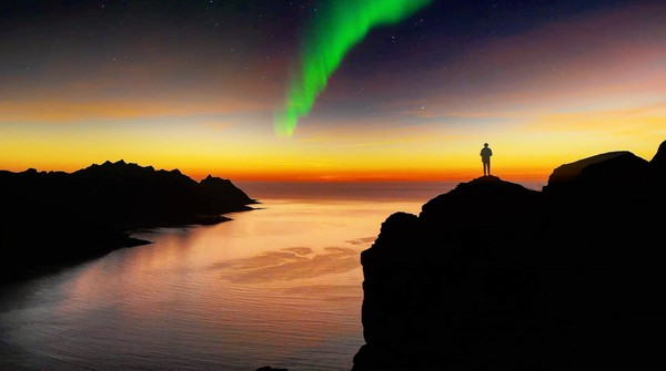 Northern Lights Timelapse Stock Footage
