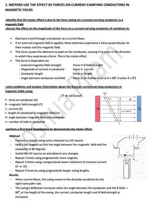 Motors and Generators Notes