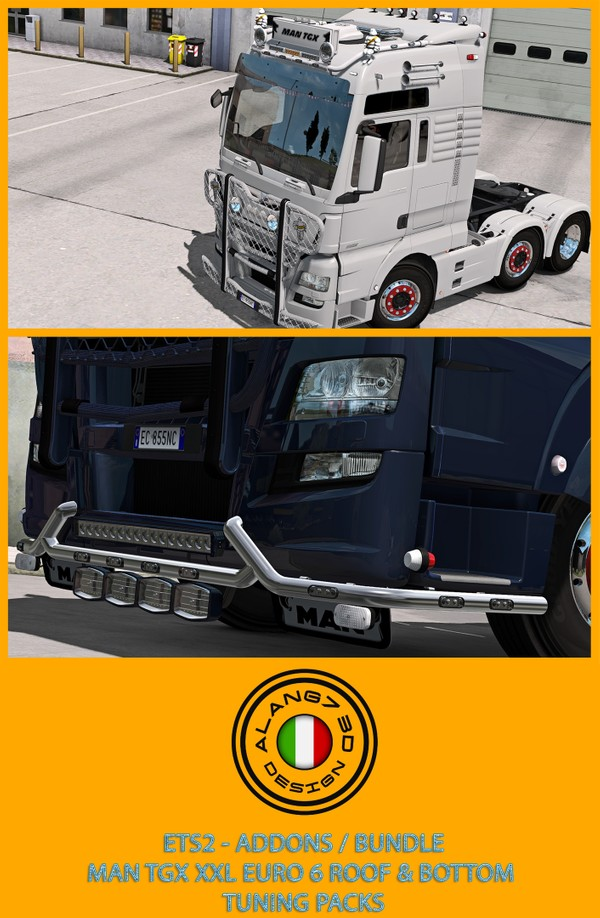 [ETS2 - ADDONS / BUNDLE] MAN TGX XXL Euro 6 Tuning Pack