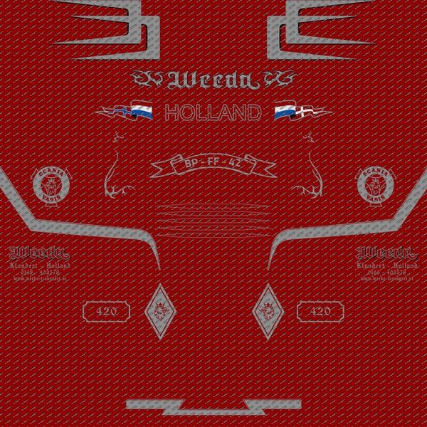 Decals Scania 124L Weeda