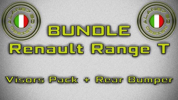[ETS2 - ADDONS / BUNDLE] Renault Range T Visors Pack + Rear Bumper
