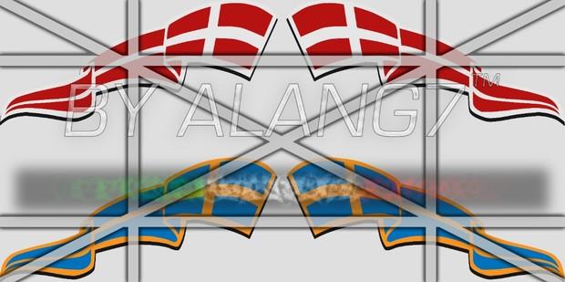 Danmark & Swedish Flags