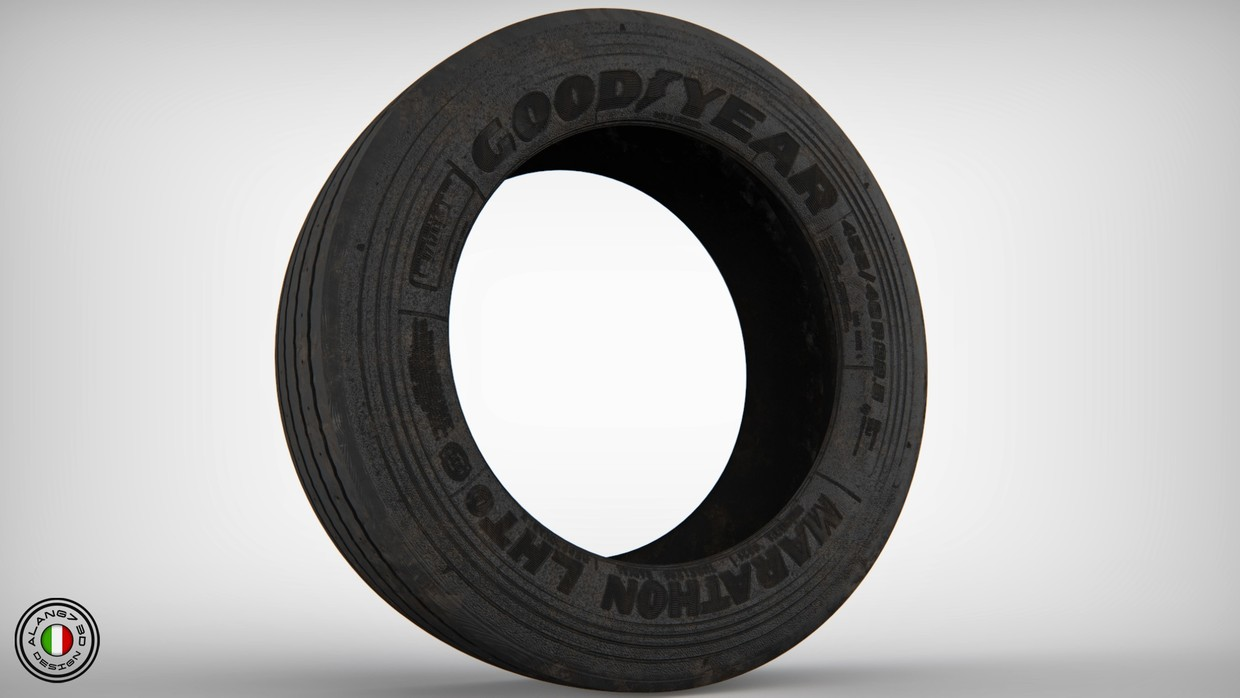 [3D MODEL] GoodYear Trailer Tyre